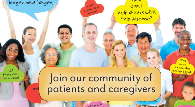Join our community of patients and caregivers